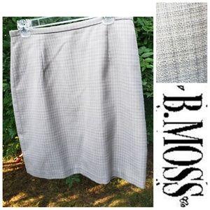 B. Moss light gray tan pencil skirt size 12